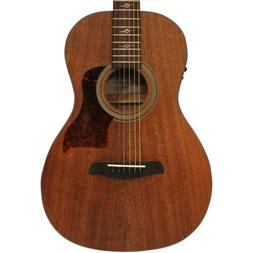 Sawtooth Mahogany Series Parlor Acoustic Electric Guitar w/