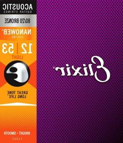 Elixir Nanoweb 80/20 Bronze Light Acoustic Guitar Strings 11