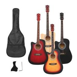 New 4 Colors 41 Inch Cutaway Folk Acoustic Guitar with Bag f