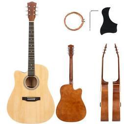 """New Glarry 41"""" Adult Cutaway Folk Acoustic Guitar w/Bag Boar"""
