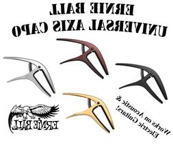**NEW ERNIE BALL UNIVERSAL AXIS CAPO - WORKS ON BOTH ACOUSTI