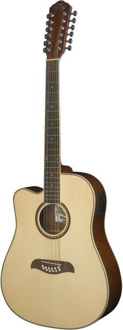 Oscar Schmidt OD312CE 12 String Acoustic Electric Guitar Bar