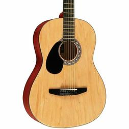 Starter Acoustic Guitar Matte Natural For Beginners Learn To