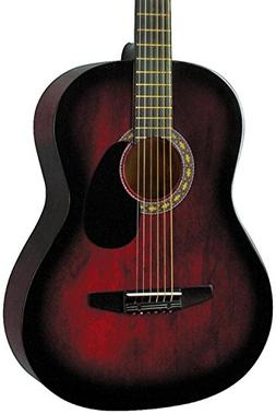 Rogue Starter Acoustic Guitar Red Burst
